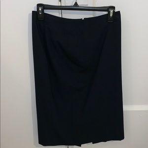 Ann Taylor Tall Navy Pencil Skirt, size 2